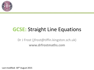 Linear Equations  Straight Lines
