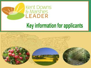 Kent Downs and Marshes Leader - Key Information for Applicants