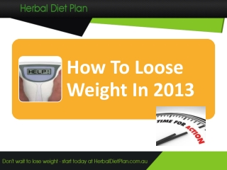 How To Loose Weight in 2013
