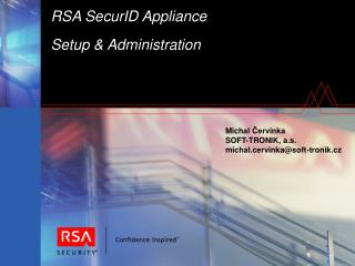 RSA SecurID Appliance Setup & Administration