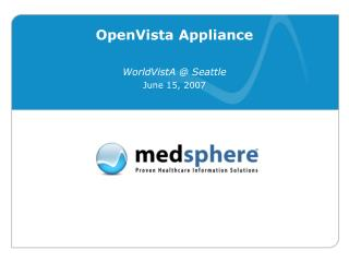 OpenVista Appliance