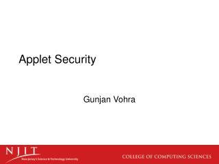 Applet Security
