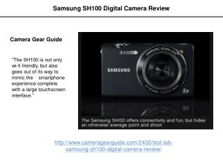 Samsung SH100 Digital Camera Review
