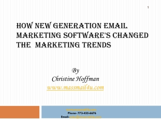 How new generation EMAIL MARKETING software's changed the  m