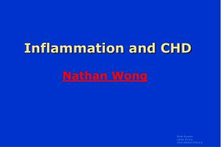 Inflammation and CHD