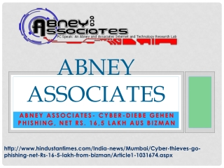 Abney Associates- Cyber-Diebe gehen Phishing, net Rs. 16,5 L