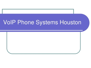 VoIP Phone Systems Houston