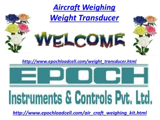 Aircraft Weighing, Weight Transducer