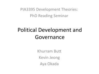 Political Development and Governance