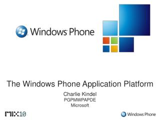 The Windows Phone Application Platform