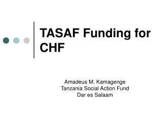 TASAF Funding for CHF