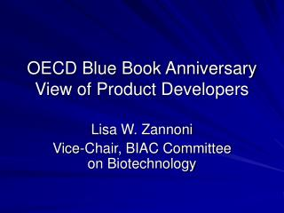 OECD Blue Book Anniversary View of Product Developers