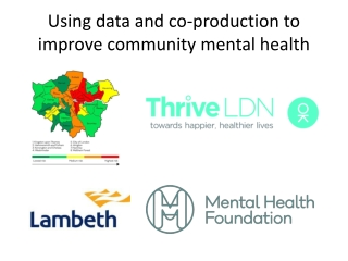 Using data and co-production to improve community m ental h ealth