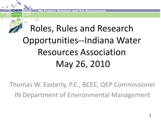 Microbial Contamination of Recreational Waters