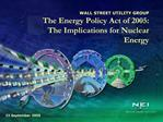 WALL STREET UTILITY GROUP