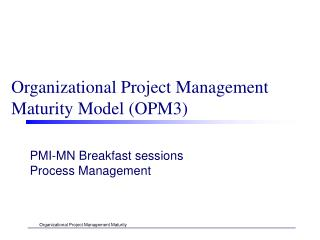 Organizational Project Management  Maturity Model (OPM3)