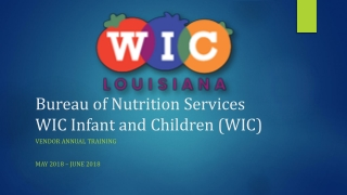 WIC FRUITS AND VEGETABLES CASH VALUE VOUCHER CVV