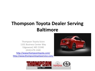 Toyota Scion Dealers