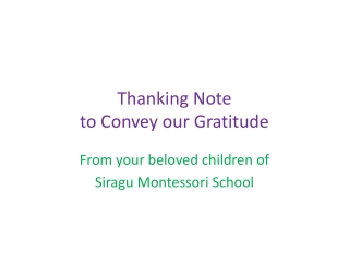 Thanking note from Siragu