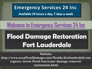 Flood Damage Restoration Fort Lauderdale