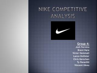 Nike Competitive analysis