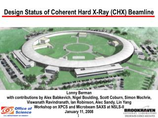 Design Status of Coherent Hard X-Ray (CHX) Beamline