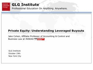 Private Equity: Understanding Leveraged Buyouts