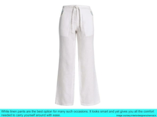 White Linen Pants for Various Occasions
