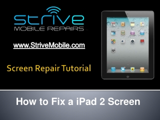 How To Repair iPad 2 Screen