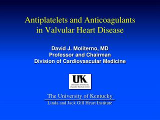 Antiplatelets and Anticoagulants in Valvular Heart Disease