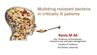 ANTIBIOTIC RESISTANT PATHOGENS: IMPACT AND CONTROL