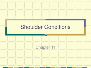 Shoulder Conditions