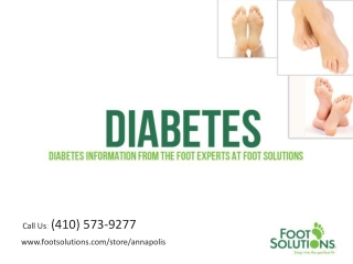 Diabetes Information From the Foot Experts at Foot Solutions