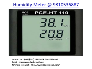 Humidity Meter Clean Room Monitor