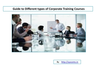 Types of Corporate Training Courses