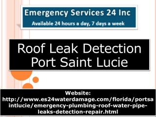 Roof Leak Detection Port Saint Lucie