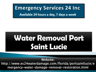 Water Rremoval Port Saint Lucie