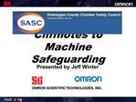 Cliffnotes to Machine Safeguarding
