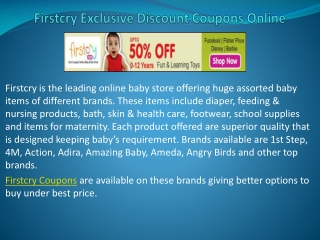 Firstcry Discount Coupons Online