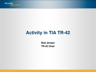 TIA-1005 Proposed by TR-42.9 Industrial Cabling Standard