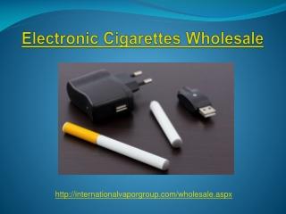Electronic Cigarettes Wholesale