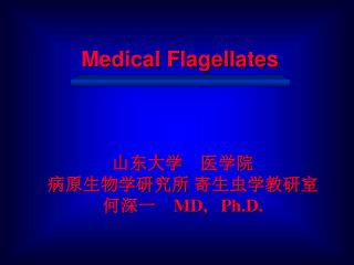 Medical Flagellates