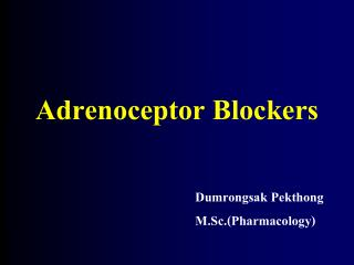 Adrenoceptor Blockers