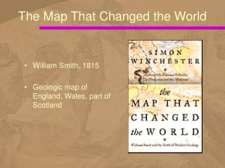 William Smith, 1815 Geologic map of England, Wales, part of Scotland