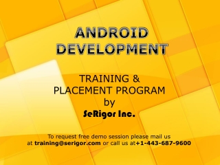 Android Training and Placement Program