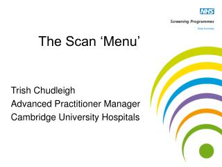The Scan 'Menu'