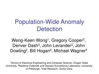 Population-Wide Anomaly Detection