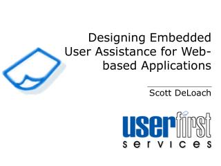 Designing Embedded User Assistance for Web-based Applications