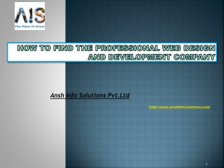How To Find The Professional Web Design And Development Comp