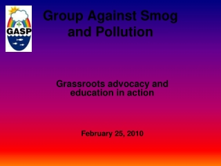 Group Against Smog and Pollution